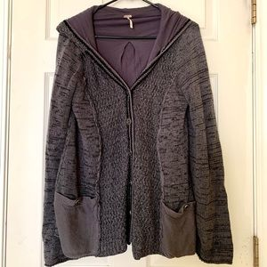 Free People Size M Knit Sweater Cardigan